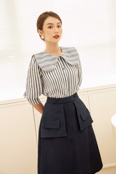 Áo Blue Striped Shirt