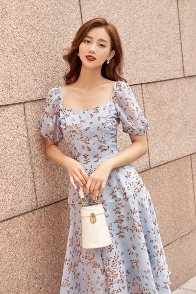 Bluestar Floral Dress