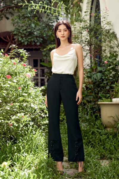 Quần Stitched Black Pants