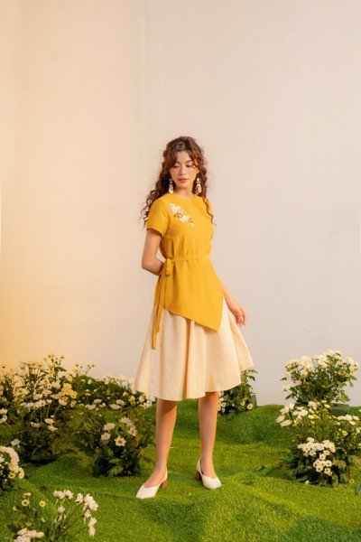 Sun Layer Embro Dress