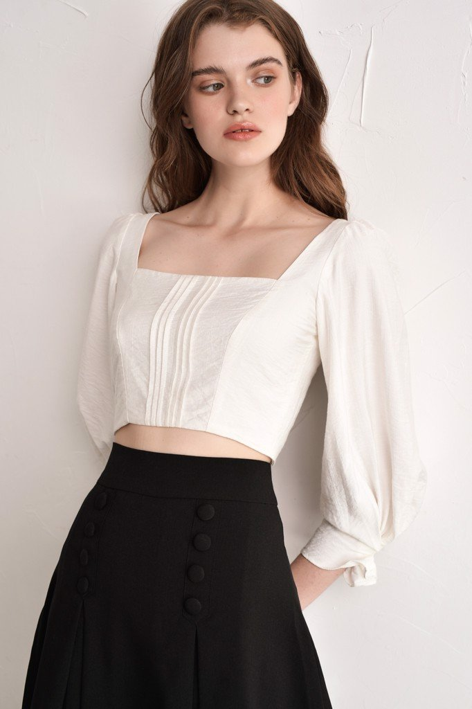 Áo Long Sleeve White Top