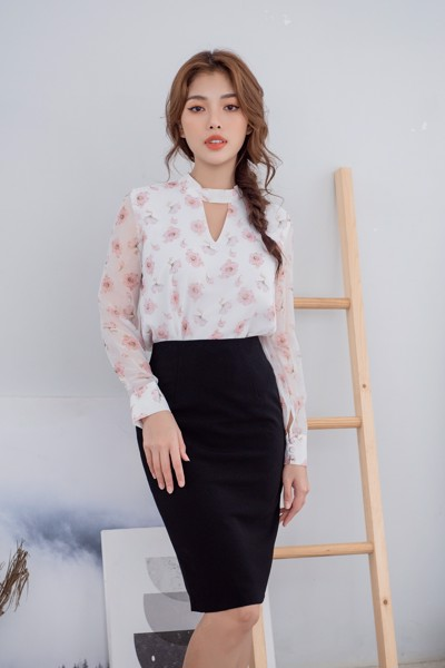 Blooming Long Sleeve Top