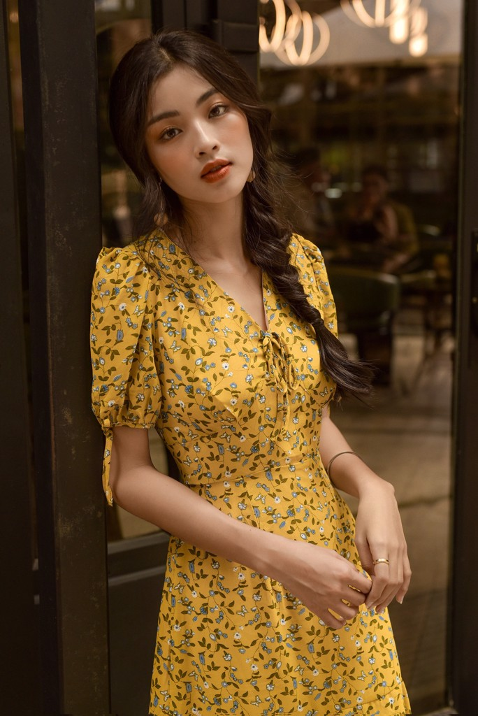 Lemon Floral Dress