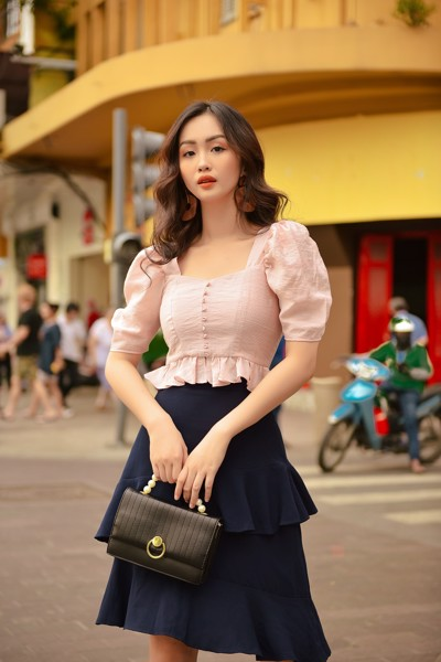 Light Pink Frilled Top