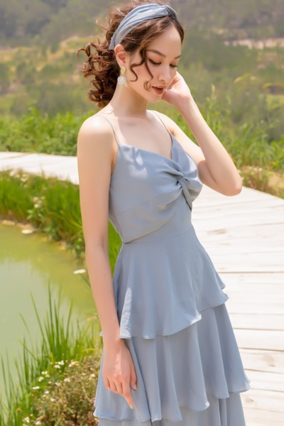 Sky Twisted Straps Dress