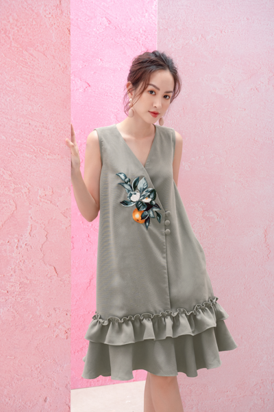 Citrus Embro Dress