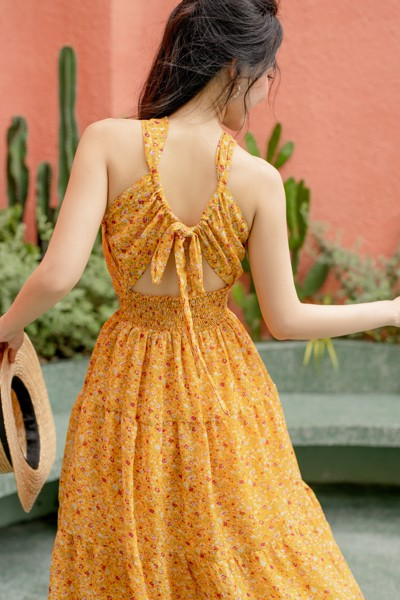 Honey Twisted Neck Dress