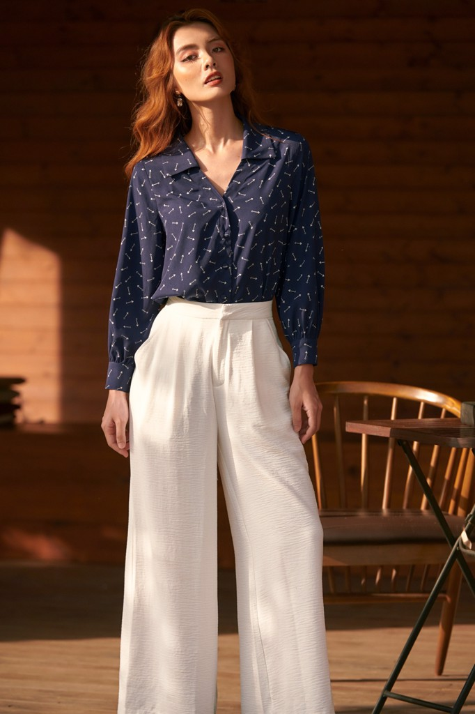 White Long Culotte