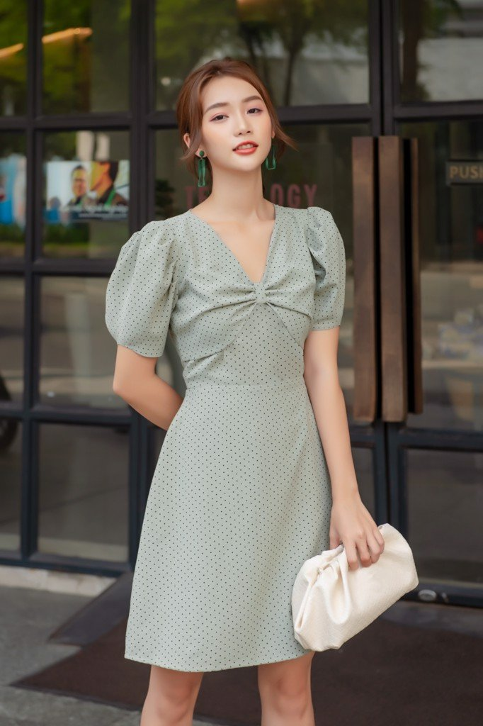Aloe Polka Dot Dress