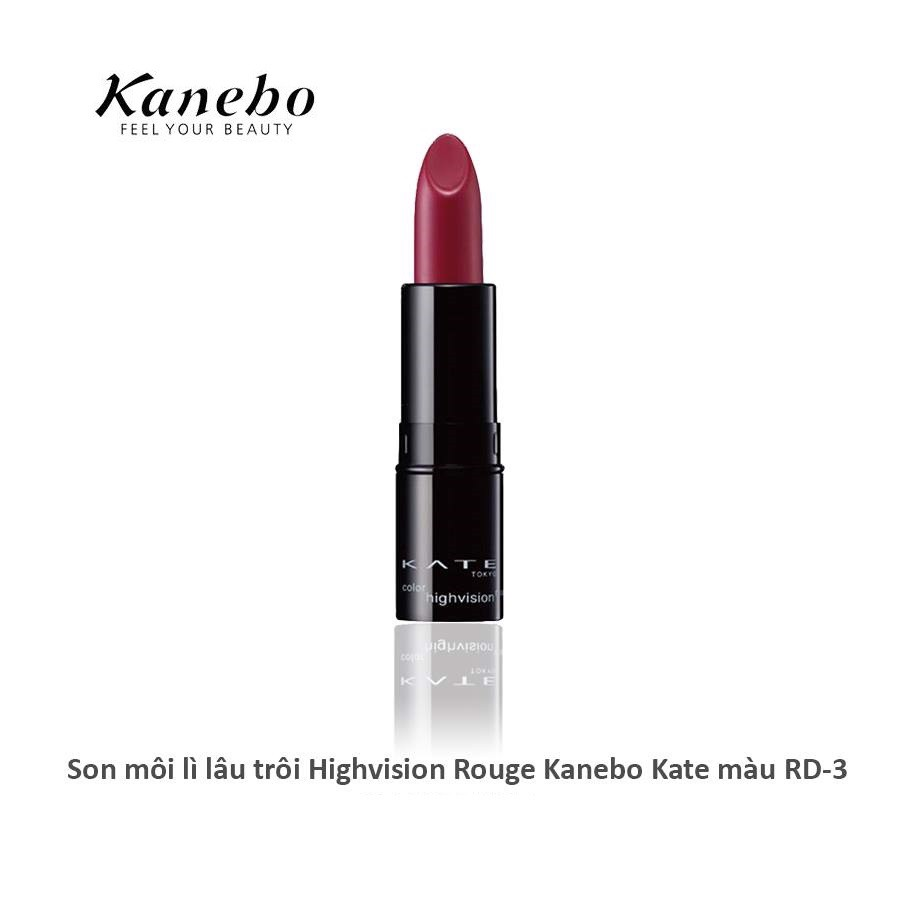 son lì lâu trôi Kanebo Kate Color Highvision Rouge màu RD-3