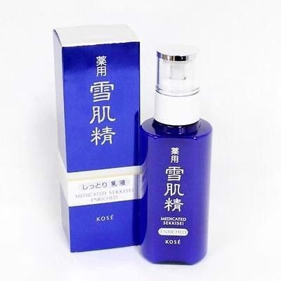 Sữa dưỡng Kose Medicated Sekkisei Enriched Facial Moisturizing Whitening Emulsion 140ml