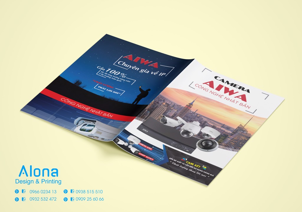 In Catalogue cửa Công Ty Camera AIWA