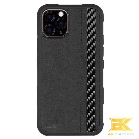 Ốp Carbon iPhone 11 Pro Max | Alcantara ARMOR Series