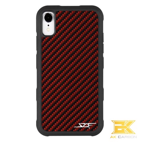 Ốp Carbon iPhone XR | Red ARMOR Series