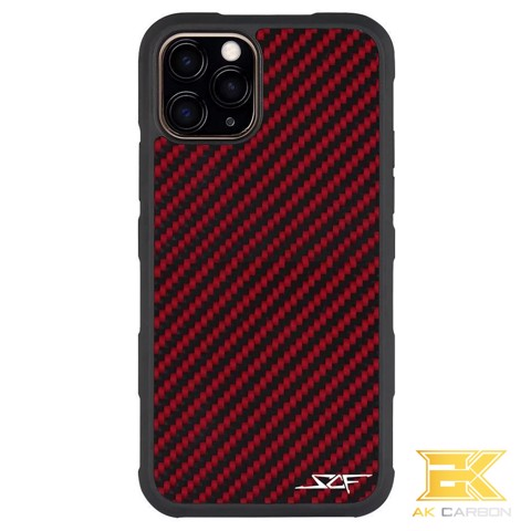 Ốp Carbon iPhone 11 Pro Max | Red ARMOR Series