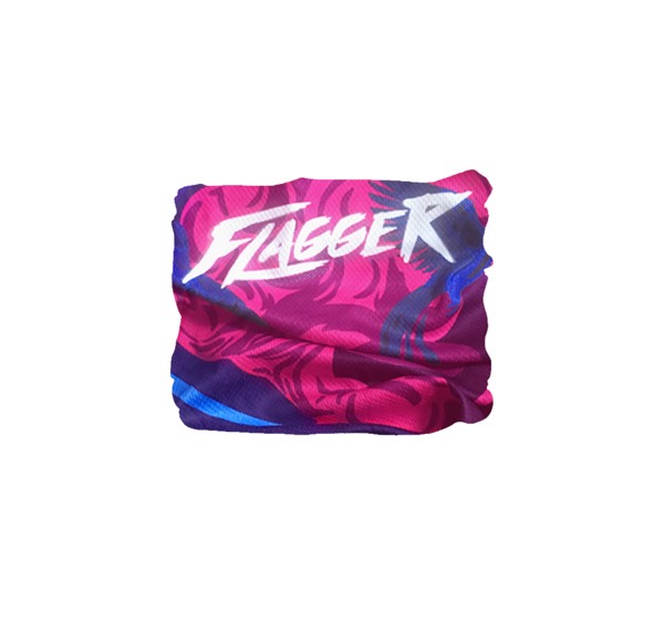 [SOLD OUT] Glowing bluepink - Flagger buff headwear