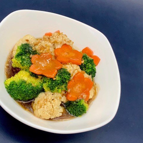Broccoli and Cauliflower with oyster sauce, 500gr