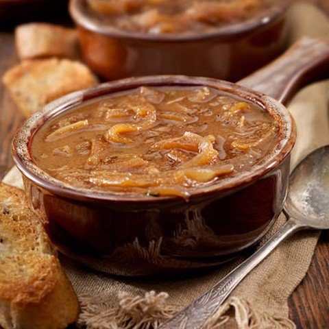 French Onion Soup, Cheese Croutons