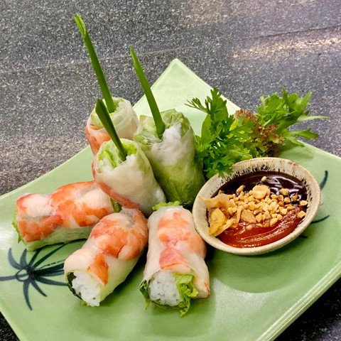 Starters And Salads - Fresh spring rolls, 6pcs