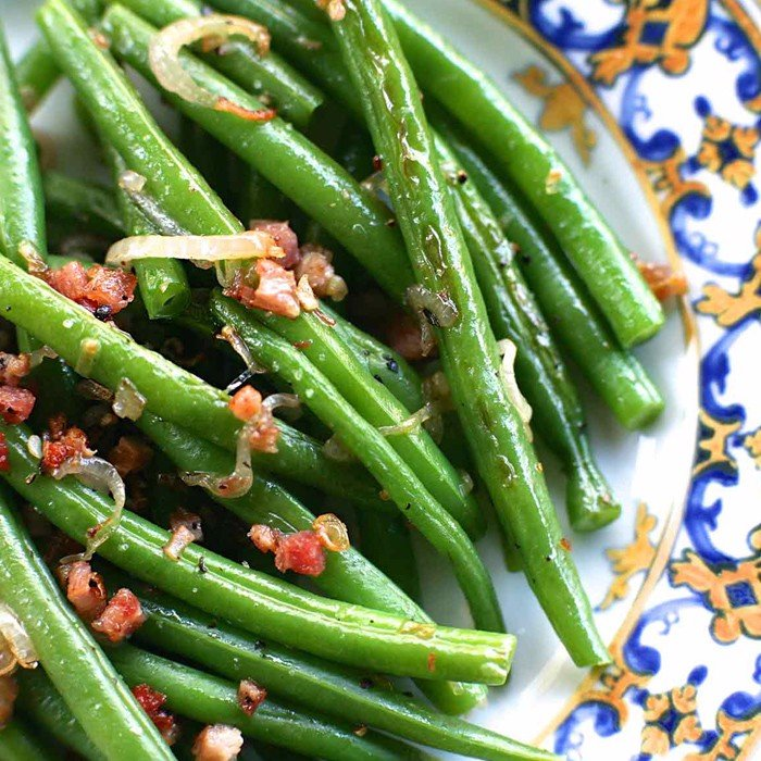 Green Beans, Crispy Shallots, Tomatoes