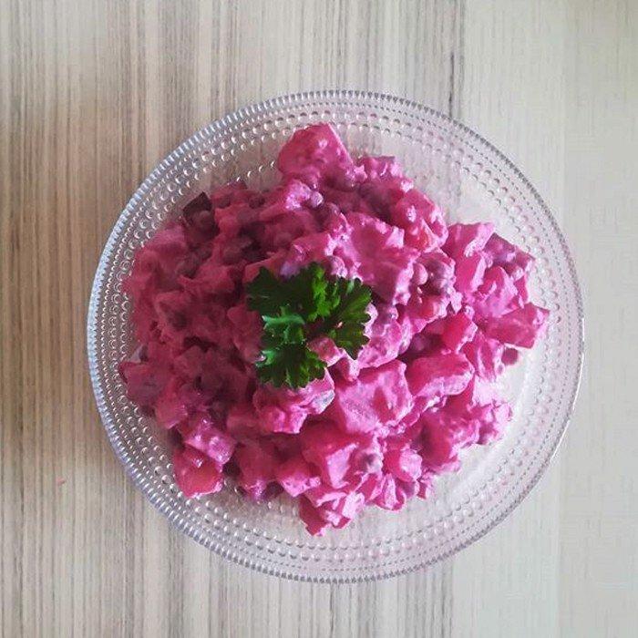 Beetroot, Dill and Sour Cream Salad