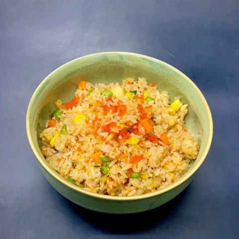 Wok-fried rice with tobiko, green beans and ginger, 500gr