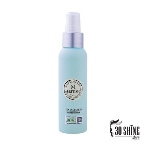 XỊT TẠO PHỒNG BRITISH M Sea Salt Spray 120ml