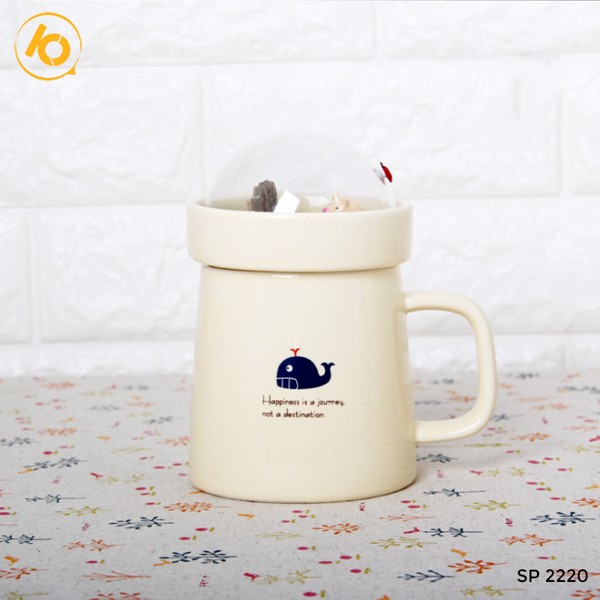 Ly sứ 400ml Niwawa Cover+cup A036