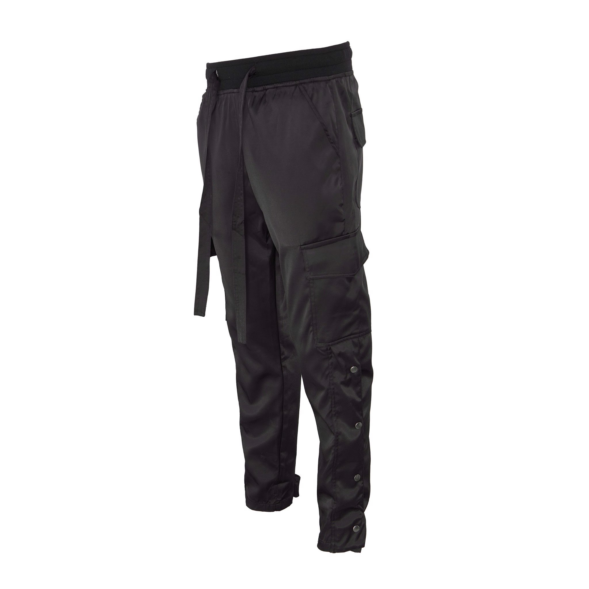 BLACK/SNAP ZIPPER CARGO PANT