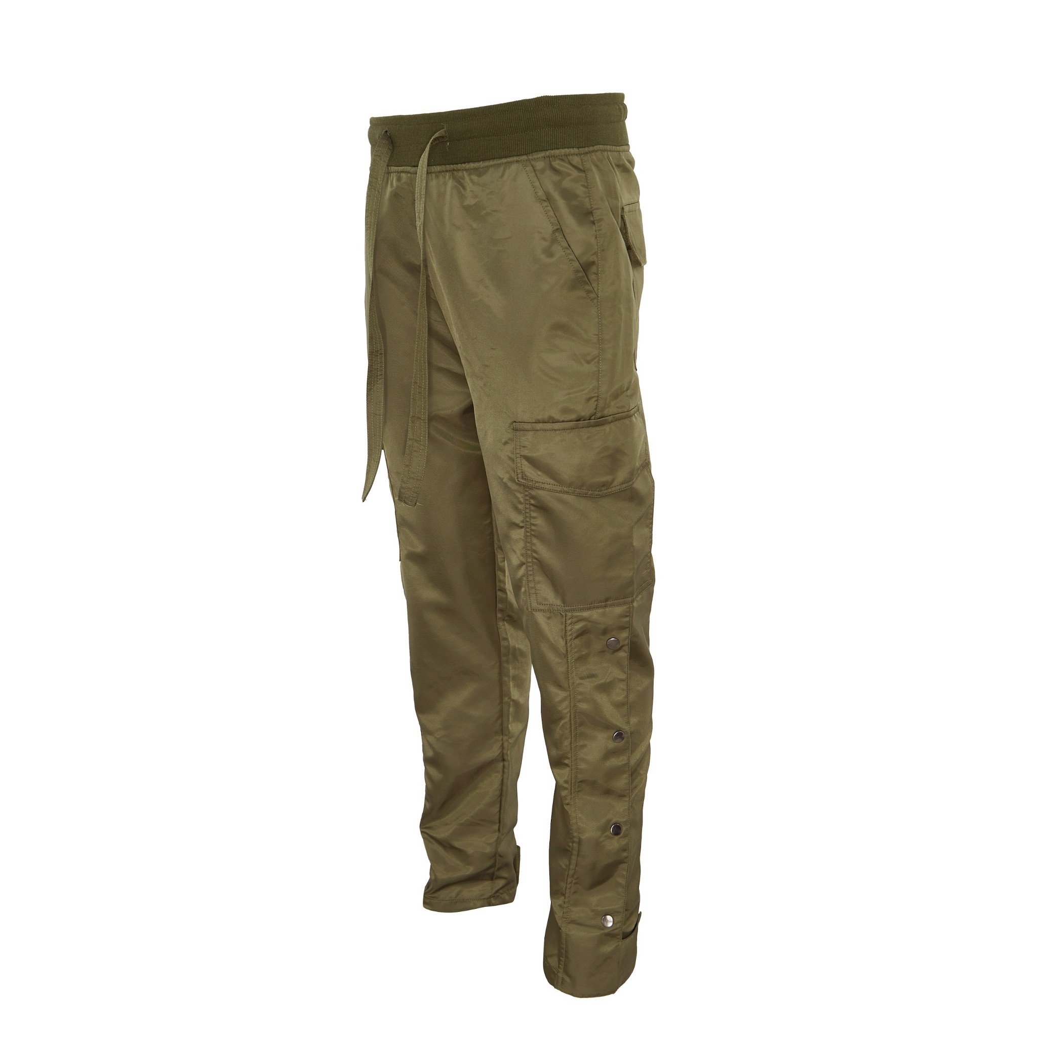 OLIVE/SNAP ZIPPER CARGO PANT