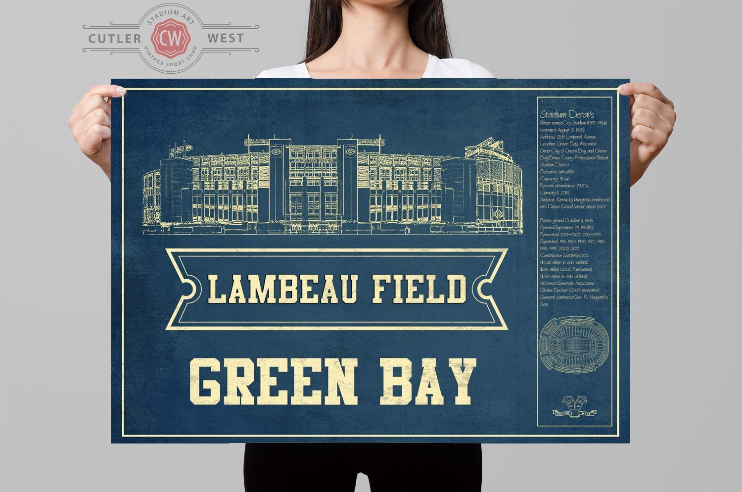 greenbay seating chart stadium print