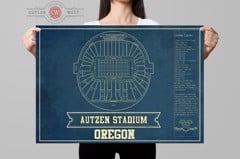 oregon seating chart stadium print