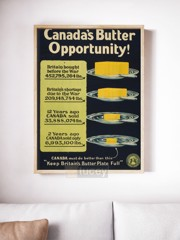 canada s butter opportunity ap phich quang cao xua vintage poster