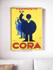 cora art decob by ad ap phich quang cao xua vintage poster
