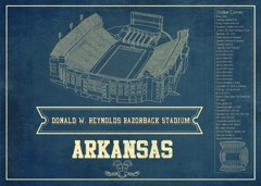 arkansas razorbacks seating chart stadium print