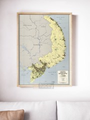 south vietnam population and administrative divisions september 1972 3 73 vintage asia maps