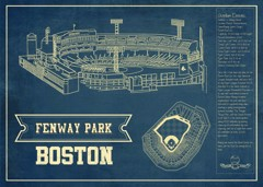 fenway park seating chart stadium print