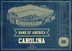 carolina bankofamerica seating chart stadium print