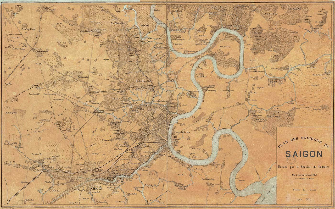 saigon 1895 maps