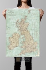 complete map british islands maps