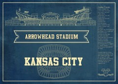 chiefs seating chart stadium print