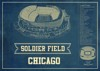 chicago bears seating chart stadium print