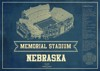 nebraska seating chart stadium print