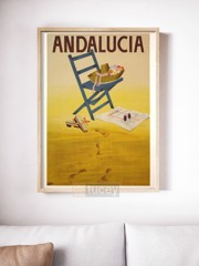andalucia by ad ap phich quang cao xua vintage poster