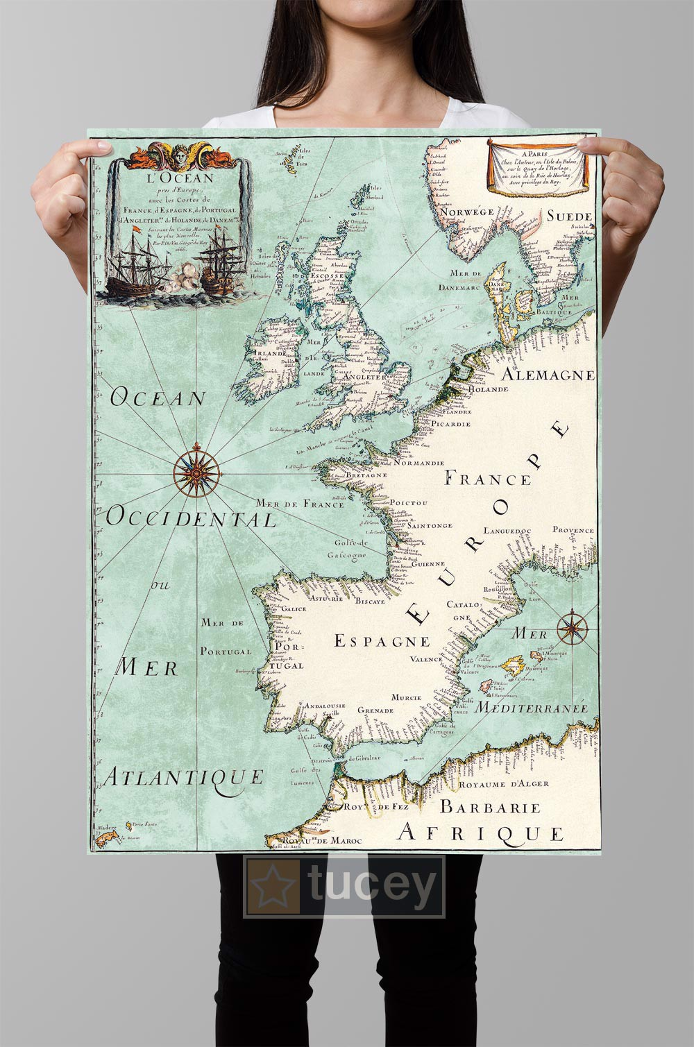 europe ocean occidenta mer antlantique 1666 maps