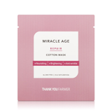 Mặt nạ bông oganic thần kỳ Thank You Farmer Miracle Age Repair Cotton Mask 25ml