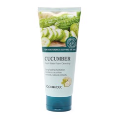 Sữa rửa mặt dưa leo Foodaholic Cucumber Fresh Water Foam Cleansing 180ml