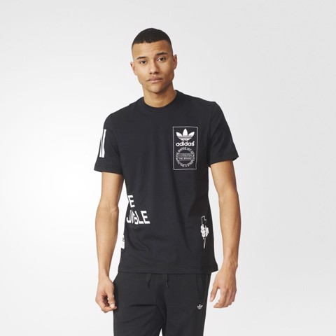 Adidas Off Placed Black Tee