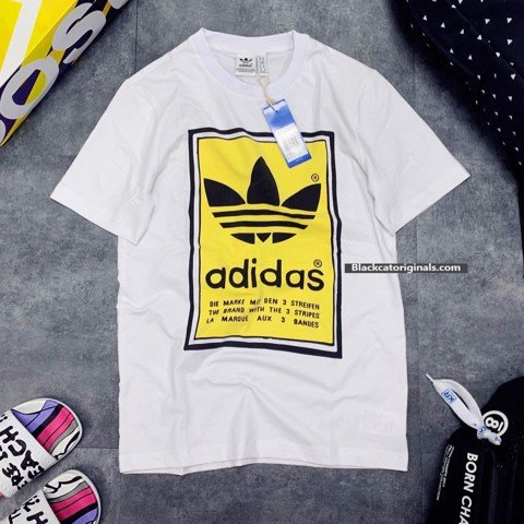 Filled Label Tee Yellow