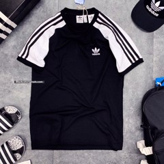 ADI 3strip Tee Black